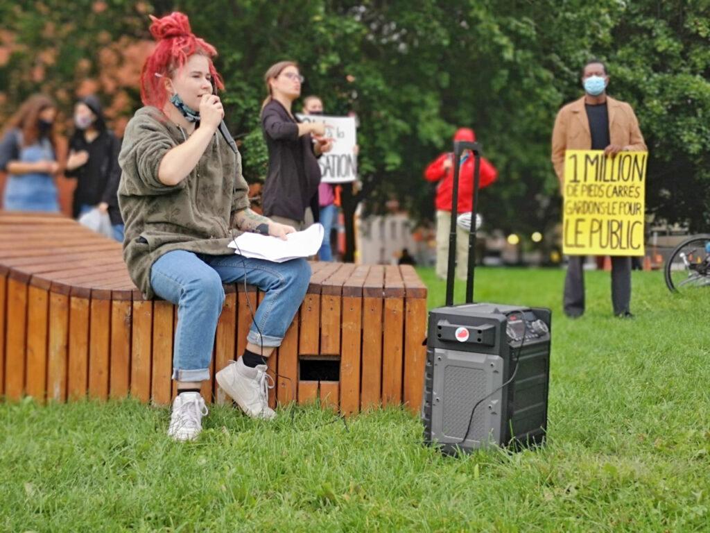Royal Vic protest speech / Discours lors de la manifestation pour le Royal Vic